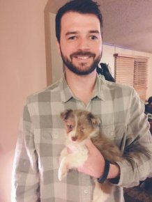 Guy With Vision Problems Gives Unwanted Dog A Loving Home