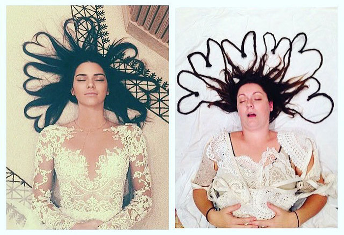 This Woman Recreated Iconic Celebrity Photos With Hilarious Results