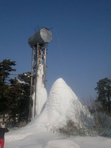 See What Happened When A Town Forgot To Turn Their Water Tower Off