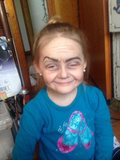Toddler Gets Turned Into An Old Lady Thanks To The Power Of Makeup
