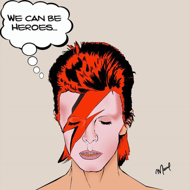 Artists From All Over The World Pay Tribute To The Late, Great David Bowie