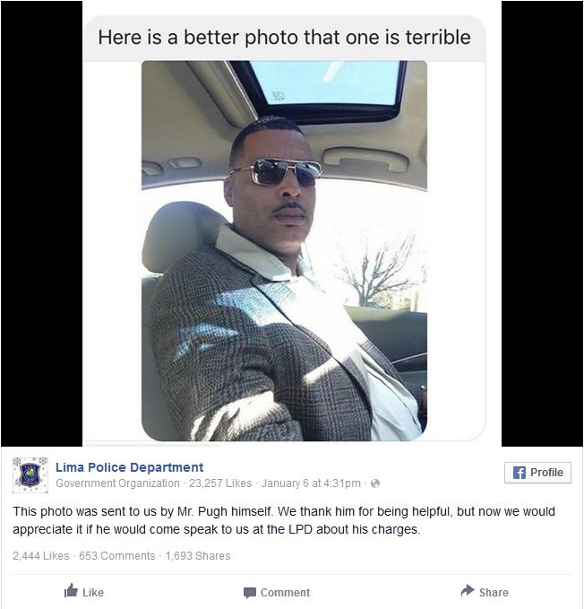 Man Sends Police A New Photo To Use For His Mugshot