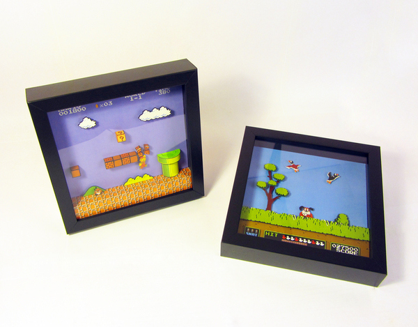 Impressive 8-Bit Dioramas Recreate Scenes From Classic Video Games