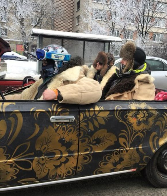 Only In Russia Would People Try This In The Middle Of Winter