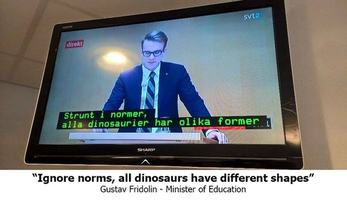 Subtitles Get Switched During Swedish Debate