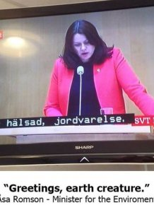 Subtitles Get Switched During Swedish Debate