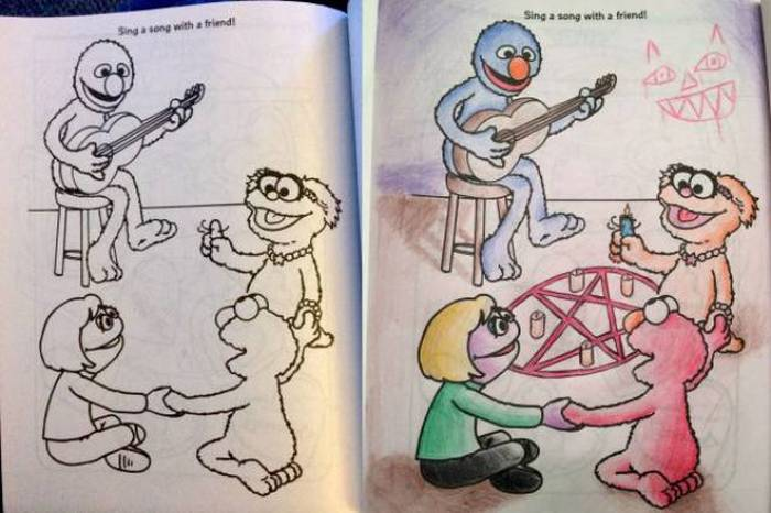 What It Looks Like When Children's Coloring Books Go Bad