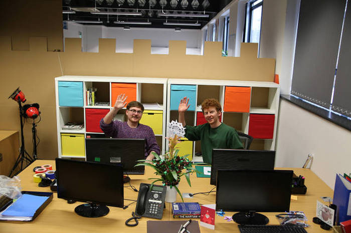 These Workers Boosted Office Morale By Building A Cardboard Castle