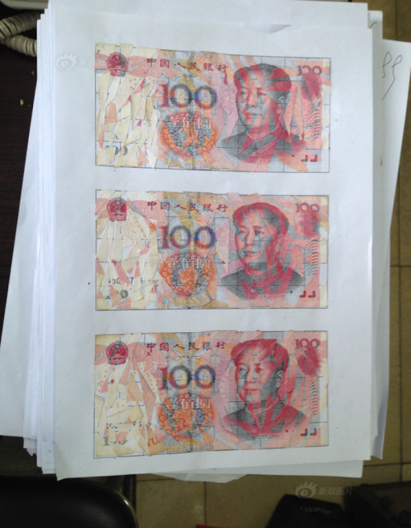 A Chinese Couple Spent Months Piecing Together $21,000 In Shredded Banknotes