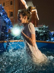 Orthodox Christians Are Taking A Dip In Freezing Waters