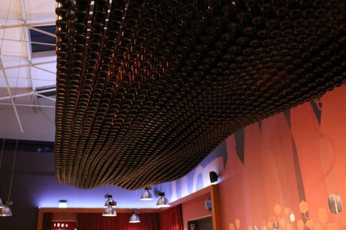 Would You Sit Underneath All Of These Beer Bottles?