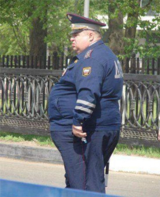 You Could Definitely Outrun These Fat Police