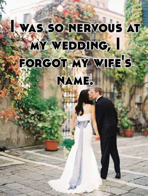 People Share Their Awkward Wedding Day Confessions
