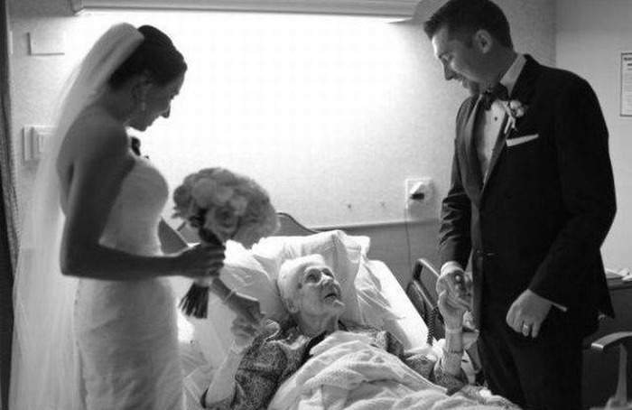 Newlyweds Surprise Groom's Grandma With A Visit To The Hospital