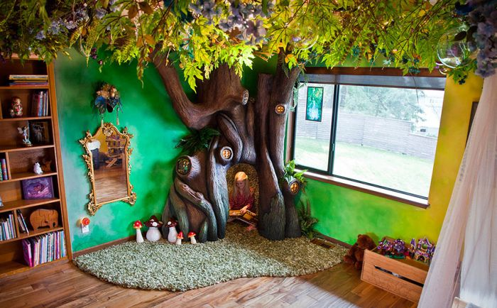 This Dad Spent 18 Months Turning His Daughter's Room Into A Real Fairytale
