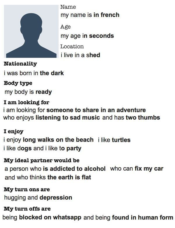Dating site profile names