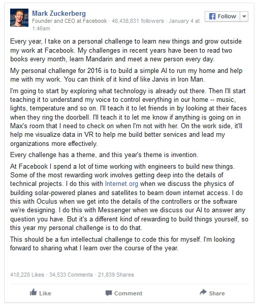 Mark Zuckerberg Had The Perfect Response To A Facebook User's Comment