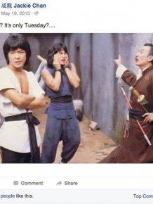 Jackie Chan Always Posts The Best Statuses On Facebook