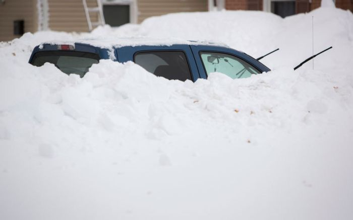 Massive Snowstorm Blankets Parts of New York