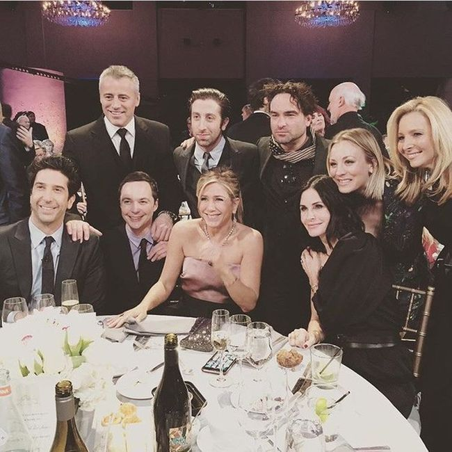 The Friends Cast Reunited And Met Up With The Cast Of The Big Bang Theory