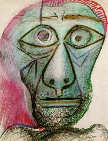 Pablo Picasso's Self Portrait At Age 16 Compared To Age 72, part 72