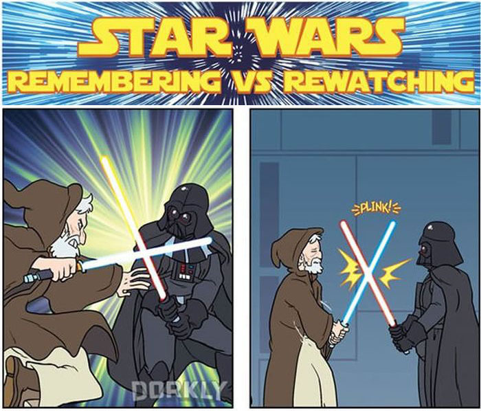 The Difference Between Remembering Star Wars And Rewatching It