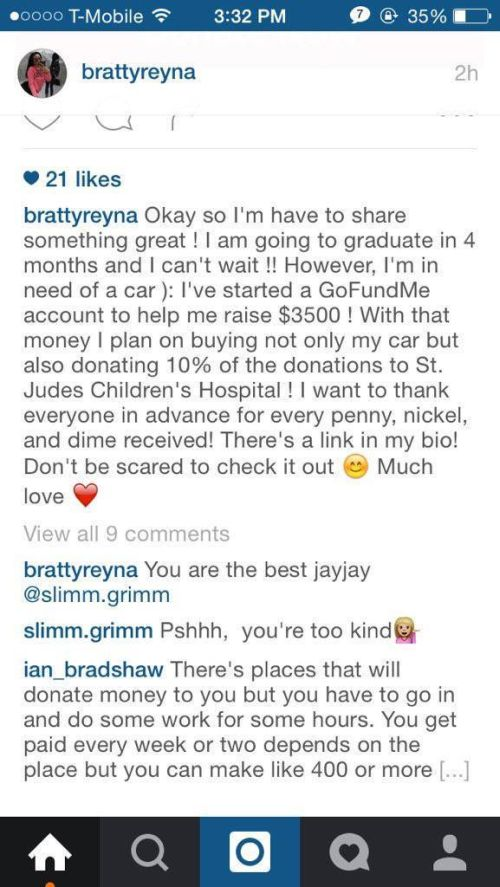 Girl Gets Ripped On After Starting A GoFundMe Page To Pay For Her New Car