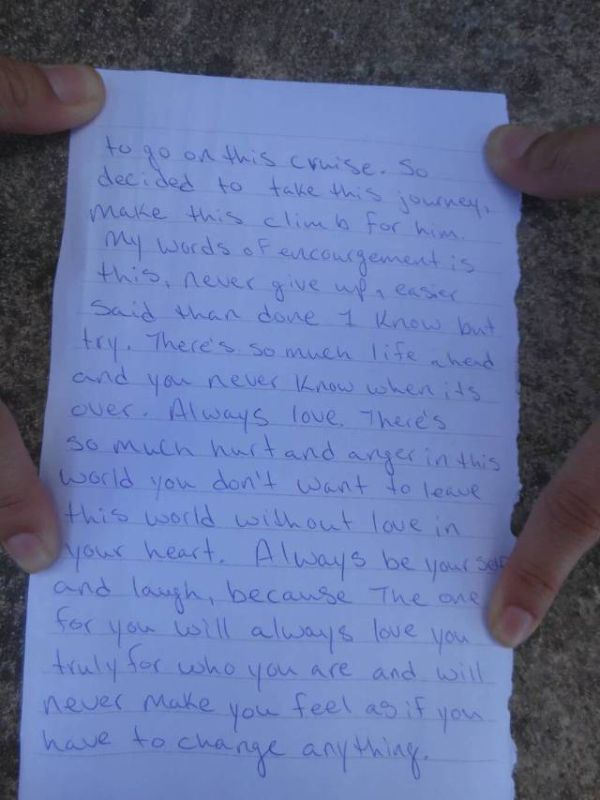 Someone Found A Heartbreaking Note At The Top Of The Mayan Ruins