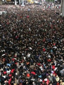 People Recently Flooded A Train Station In China