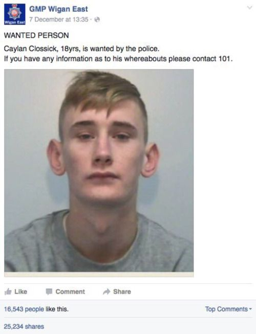 This Kid Got Roasted On Facebook When The Police Posted His Picture