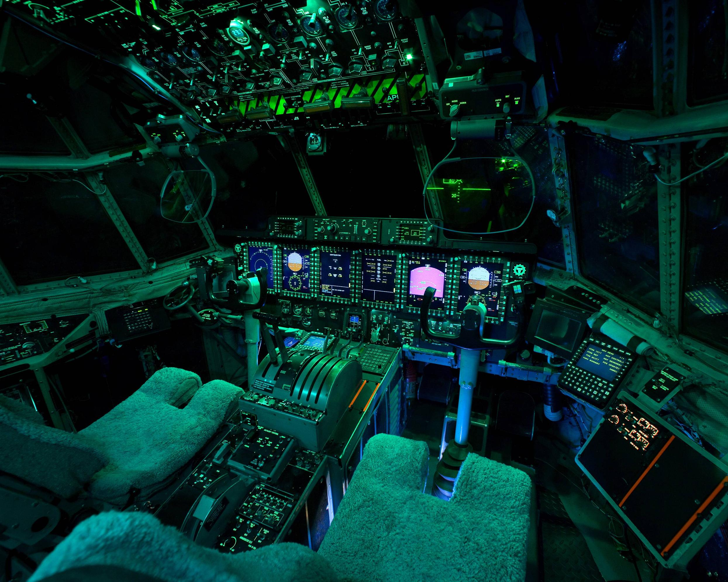 Military weapons cockpit