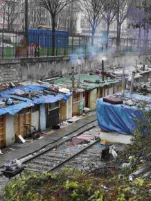Gypsy camp in Paris