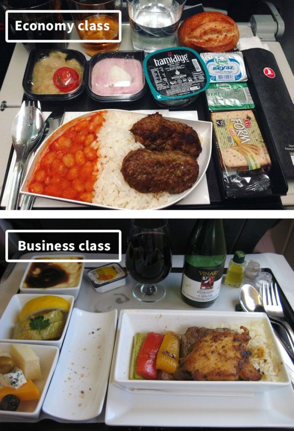 The Difference Between Airline Food In First Class Vs. Economy