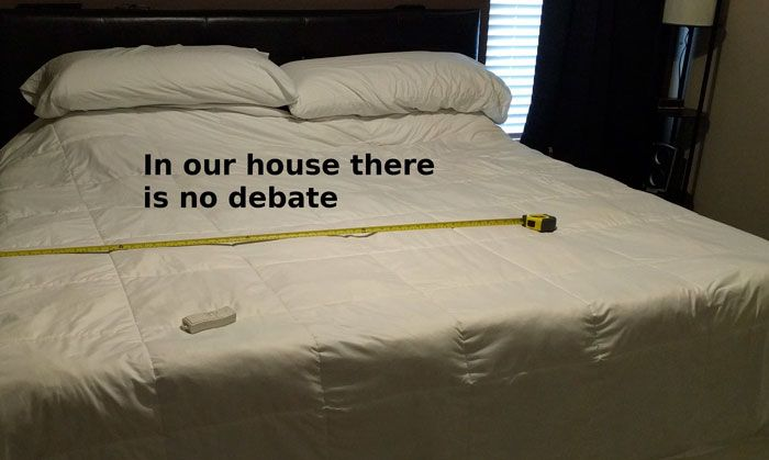 Husband Finds An Impressive Solution To The Side Of The Bed Debate