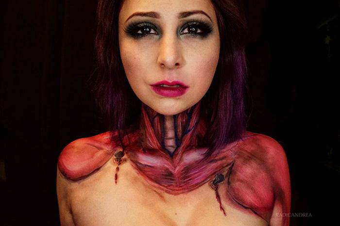 Makeup Artist Transforms Herself Into Terrifying Creatures