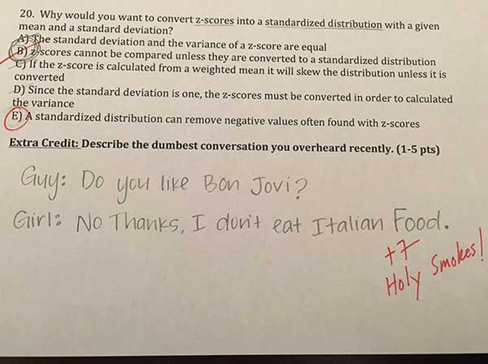 This College Professor Asks The Coolest Extra Credit Questions