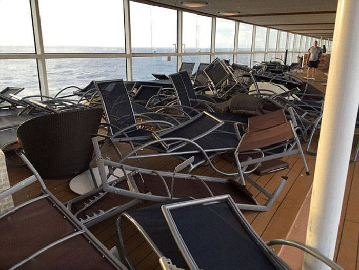 Royal Caribbean Cruise Ship Suffers Damage After Getting Caught In A Storm