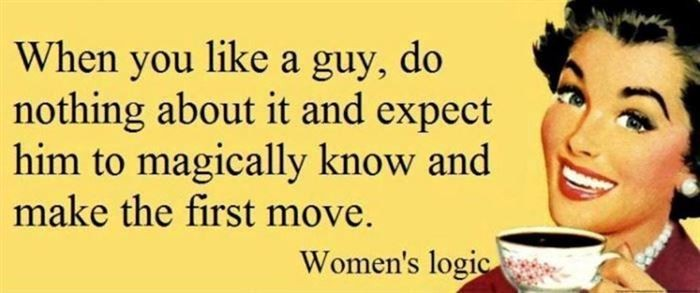 Women's Logic Has Been Confusing Men Since The Beginning Of Time