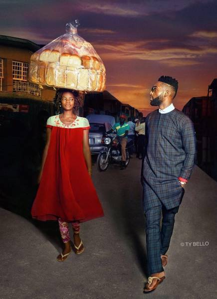 Street Seller Gets A Modeling Contract After Photobombing Tinie Tempah's Photo Shoot