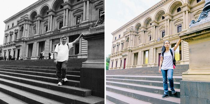 Daughter Travels To The Same Locations Her Late Father Used To Visit