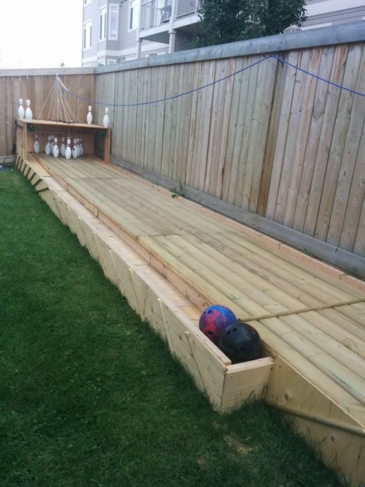 A Backyard Bowling Alley Is Something Everyone Needs In Their Lives