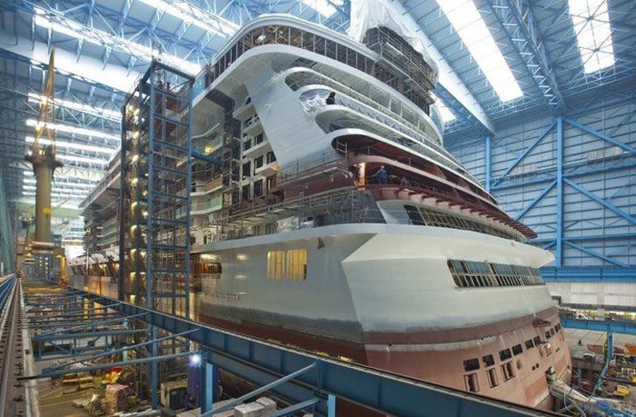 What A Cruise Ship Looks Like Before It Comes Together