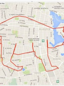 Guy On Bike Creates Giant Doodles Using His GPS App