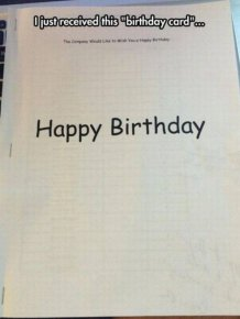 This Birthday Card Is Funny But Cold