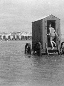It's Hard To Believe That These Bathing Machines Used To Sit At The Beach