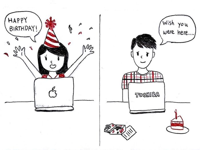 Artist Captures What It Feels Like To Be In A Long Distance Relationship