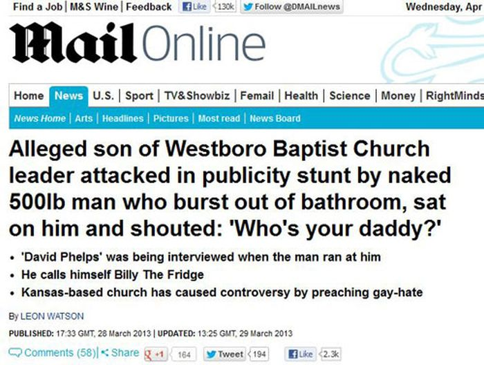 Really Ridiculous News Headlines From Around The World