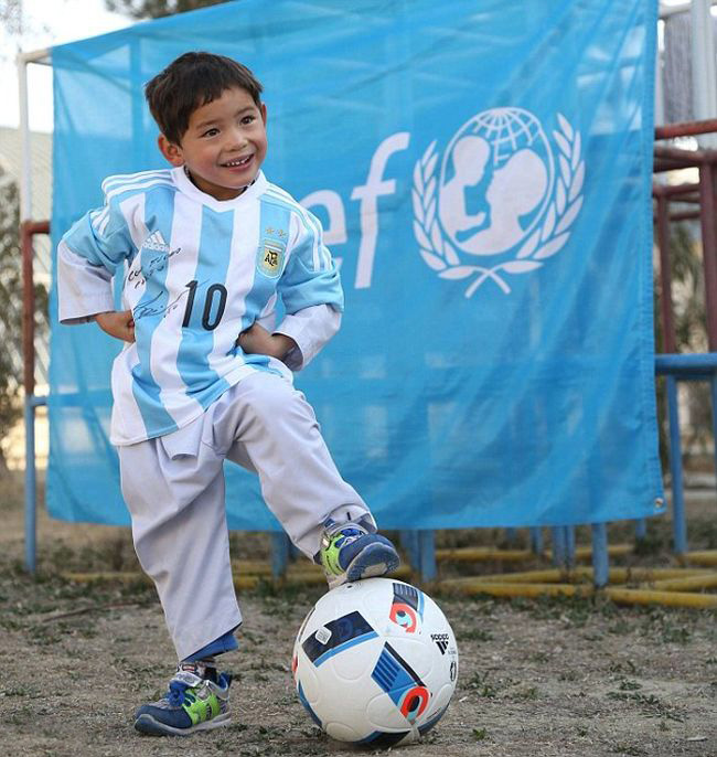 Lionel Messi Makes A Kid's Dream Come True By Sending Him A Signed Shirt