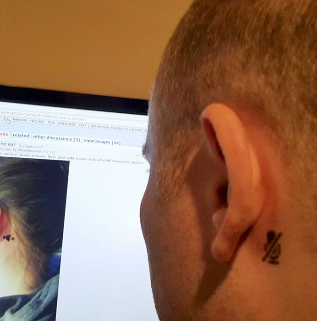 Girl Gets A Tattoo To Inform Strangers About Her Deaf Ear