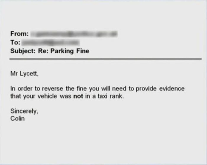 Man Finds An Awesome Way To Contest A Parking Fine